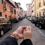 Aquamarine, Diamond and Platinum Engagement Ring
