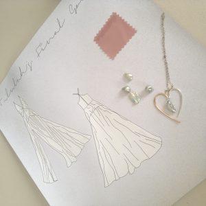 Design Collaboration Jessica Jane Bespoke Bridal Wear, Roseanna Croft Jewellery