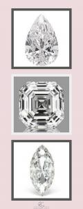Pear, Asscher and Marquise Cut Diamonds