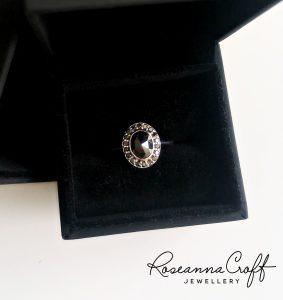 Rose Cut Black Diamond Engagement Ring