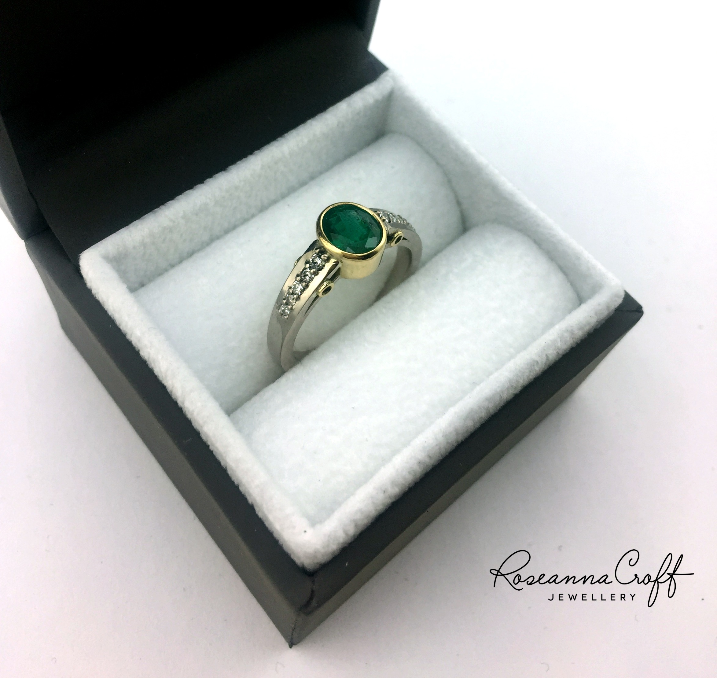 Bespoke Emerald Ring by Roseanna Croft Jewellery