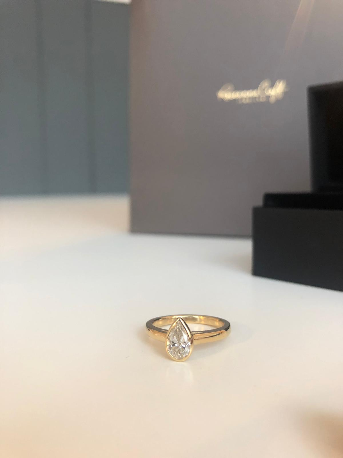 Pear Shaped Diamond Engagement Ring | Design Story
