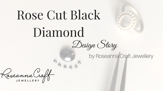 Rose Cut Black Diamond Engagement Ring by Roseanna Croft Jewellery