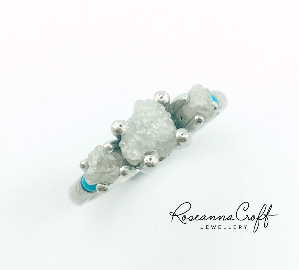 Rough Diamond Engagement Ring by Roseanna Croft Jewellery