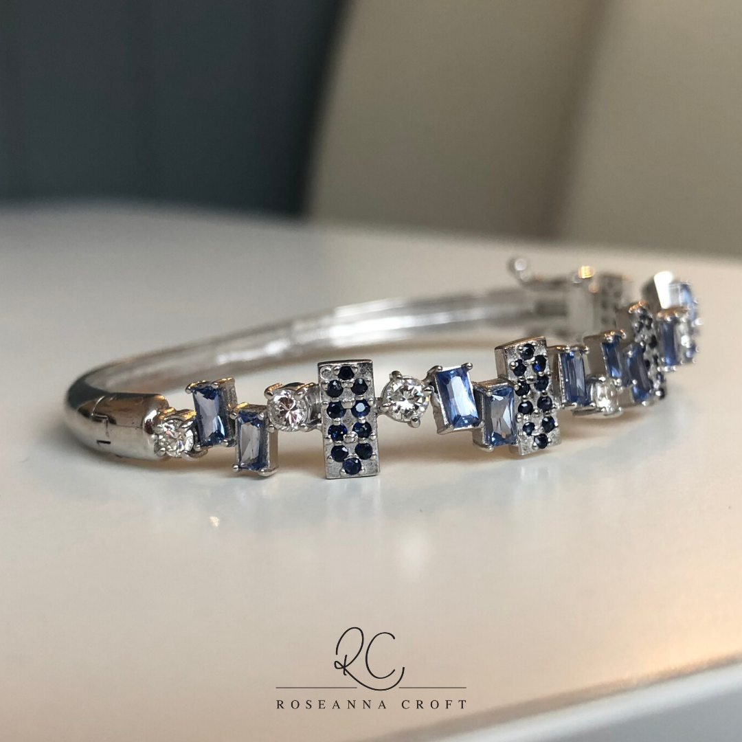 Jewellery Repurposed – Sapphire and Diamond Bangle