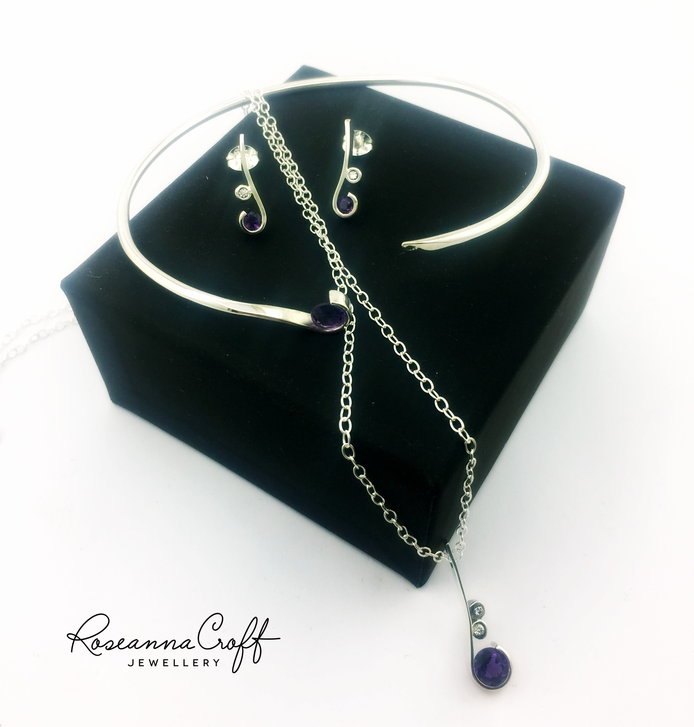 Amethyst Bespoke Bridal Jewellery by Roseanna Croft Jewellery