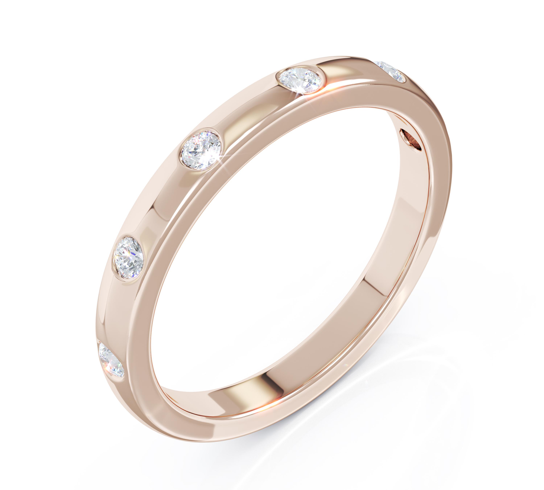 Milestone Ring in 18ct Rose Gold 6 Diamonds