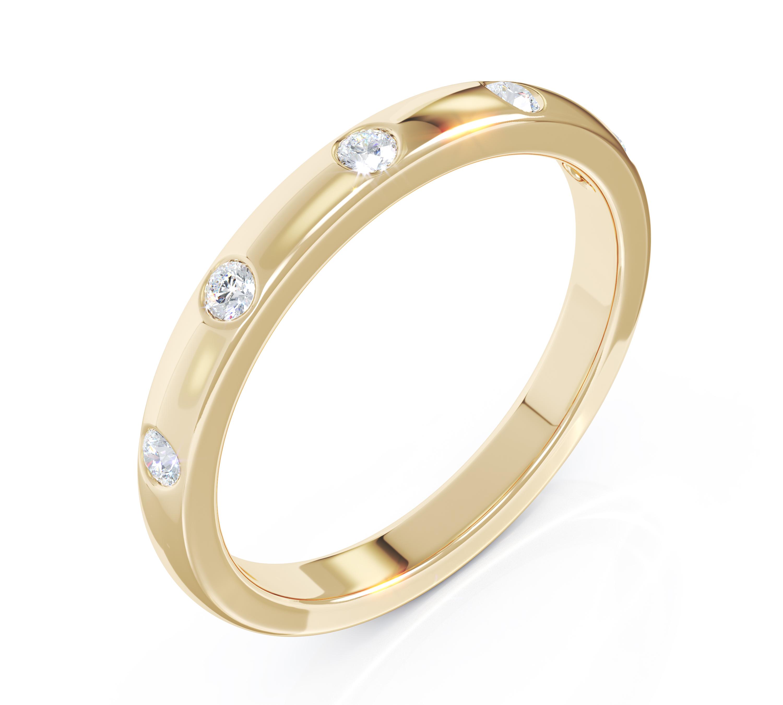 Milestone Ring in 18ct Yellow Gold 5 Diamonds