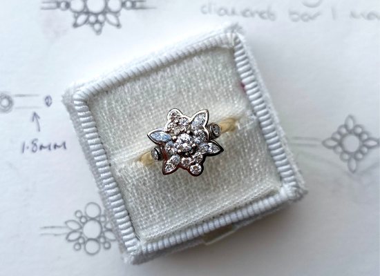 Roseanna Croft Jewellery Bespoke Engagement Ring