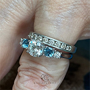 Stacked Silver Diamond Rings