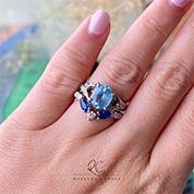 Blue Bespoke Engagement Ring